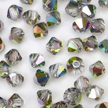 4mm Preciosa Crystal Bicone Vitrail Medium - 20
